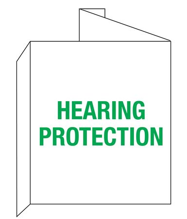 3D Hearing Protection Wall Sign 8x14
