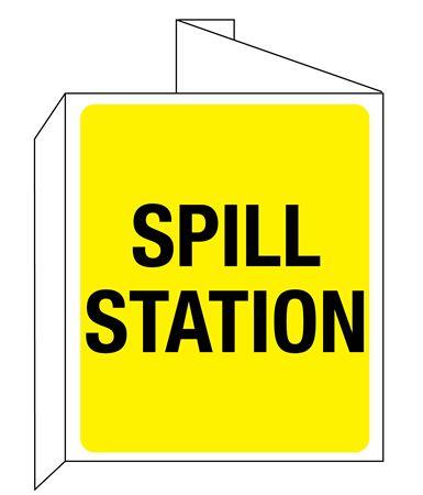 3D Spill Station Wall Sign 8x14