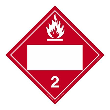 Class 2 - Flammable Gas Blank - Poly Blend 10 3/4 x 10 3/4