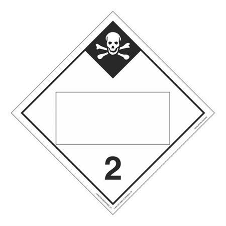 Class 2 - Inhalation Hazard Blank - Poly Blend 10 3/4 x 10 3/4