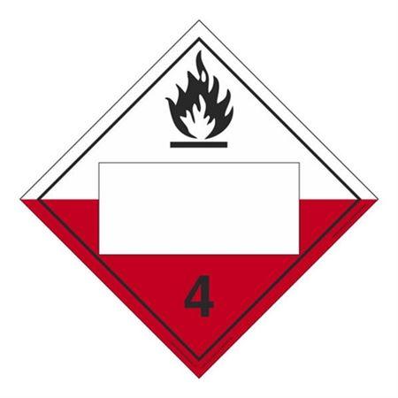Class 4-Spontaneously Combust. Blank-PolyBlend-10 3/4x10 3/4