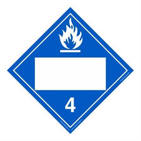 Class 4 - Dangerous When Wet Blank - Poly Blend 10 3/4 x 10 3/4