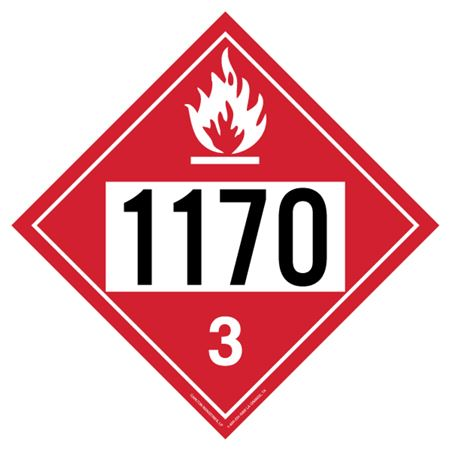 Flammable Liquid 1170 - Polyblend (No Adhesive) 10 3/4 X 10 3/4