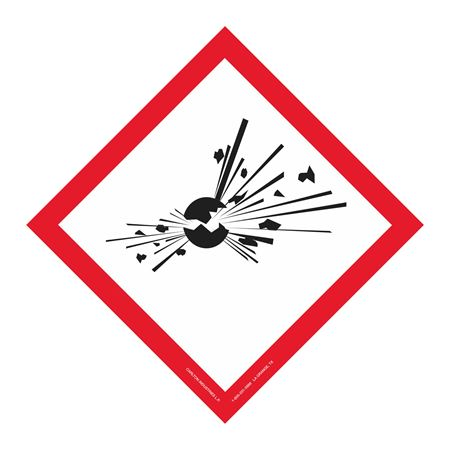 Exploding Bomb Picto Placard