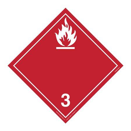 Class 3 - Flammable Int'l Wordless Placard