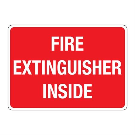 Fire Extinguisher Inside - Vinyl Decal 10 x 14