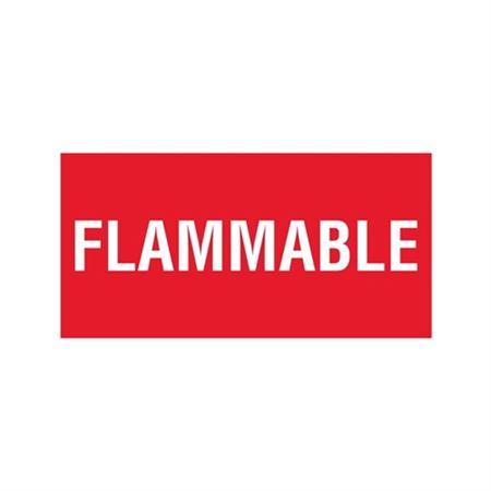Flammable - Vinyl Marker - 6 x 12