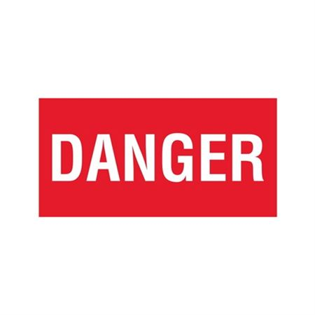 Danger - Vinyl Decal 6 x 12