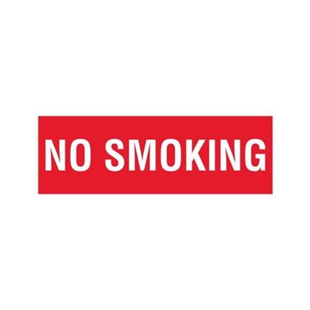 No Smoking - Vinyl Marker - 4 x 12