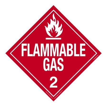 Class 2 - Flammable Gas Worded Placard