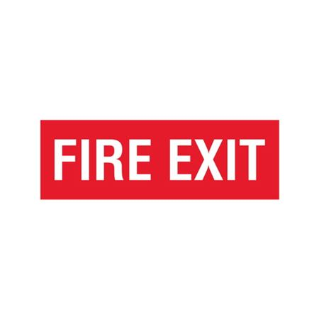 Fire Exit - Vinyl Decal 4 x 12