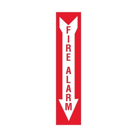 Fire Alarm - Down Arrow Vinyl Marker - 4 x 18