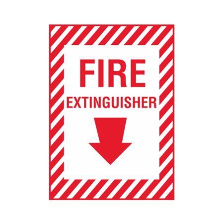 Fire Extinguisher - Vinyl Decal 10 x 14
