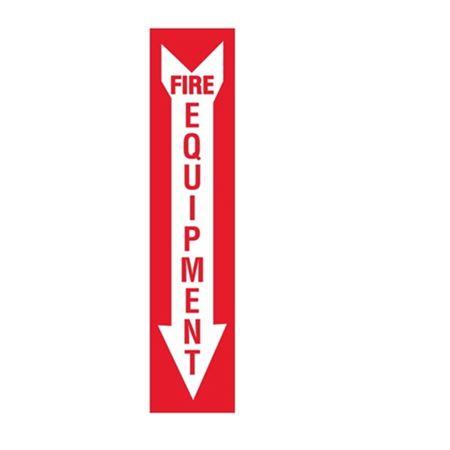 Fire Equipment - Down Arrow Vinyl Marker - 4 x 18