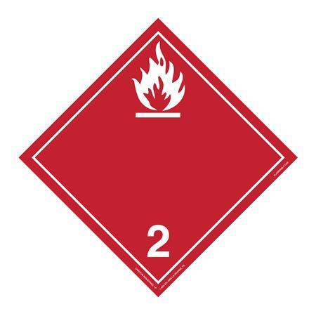 Class 2 - Flammable Gas Int'l Wordless Placard