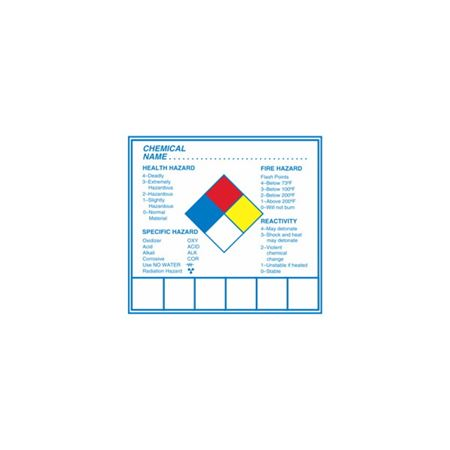 Chemical Hazard Decal 2 3/4 x 3 inches