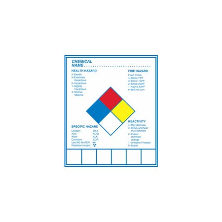 Chemical Hazard Decal - 5 x 6 inches