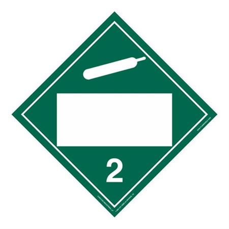 Class 2 - Non Flammable Gas Blank - Adhesive 10 3/4 x 10 3/4