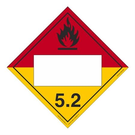 Class 5 - Organic Peroxide Blank - Adhesive 10 3/4 x 10 3/4