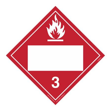 Class 3 Flammable Liquid - Perm Adhesive 10 3/4 x 10 3/4