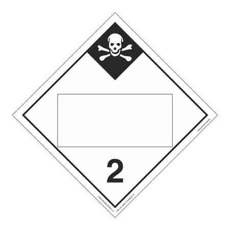 Class 2-Inhalation Hazard Blank-Perm Adhesive-10 3/4x10 3/4