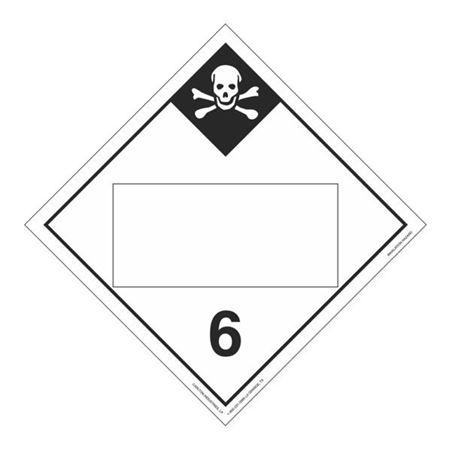 Class 6-Inhalation Hazard Blank-Perm Adhesive-10 3/4x10 3/4