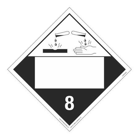 Class 8 - Corrosive - Permanent Adhesive 10 3/4 x 10 3/4