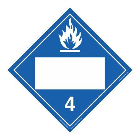 Class 4-Dangerous When Wet Blank-Perm Adhes. 10 3/4x10 3/4