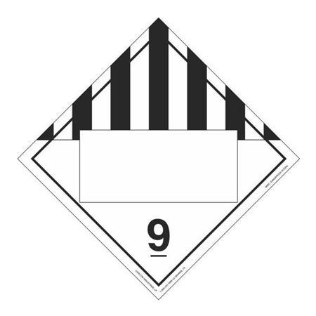 Class 9 Misc. Dangerous Goods  Perm Adhesive 10 3/4 x 10 3/4