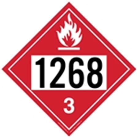 Flammable Liquid 1268 - Removable Vinyl (Adhesive) 10 3/4 x 10 3/4