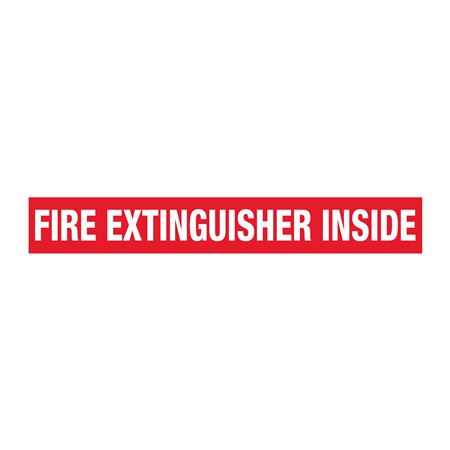 Truck/Tank Decals - Fire Extinguisher Inside 4 x 28