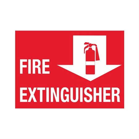 "Fire Extinguisher - Vinyl Decal 6"" x 12"""
