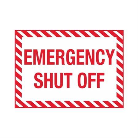 "Emergency Shutoff - Vinyl Decal 10"" x 14"""