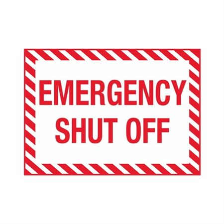 "Emergency Shutoff - Vinyl Decal 6"" x 12"""