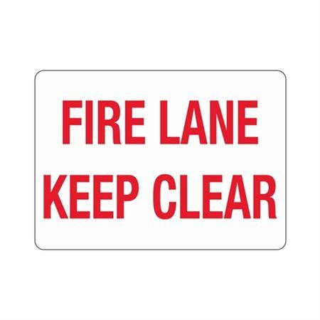 "Fire Lane Keep Clear - Vinyl Decal 10"" x 14"""