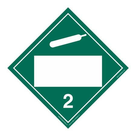 Class 2 - Non Flammable Gas Blank - Rigid Vinyl 10 3/4 x 10 3/4