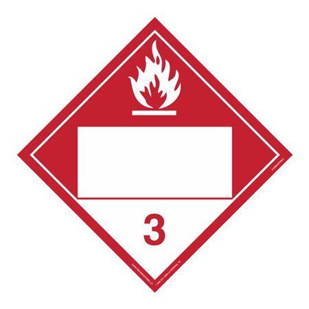 Class 3 - Combustible Liquid - Rigid Vinyl 10 3/4 x 10 3/4