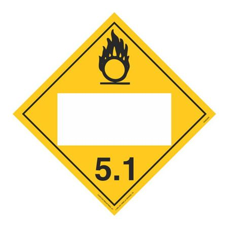Class 5 - Oxidizer Blank - Rigid Vinyl 10 3/4 x 10 3/4