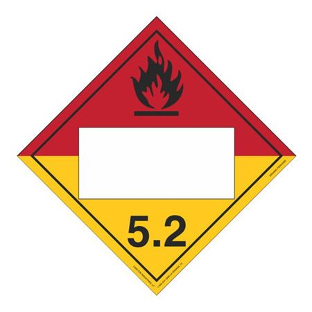 Class 5 - Organic Peroxide Blank - Rigid Vinyl 10 3/4 x 10 3/4