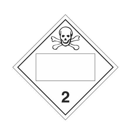Class 2 - Toxic / Poison Gas Blank - Rigid Vinyl 10 3/4 x 10 3/4