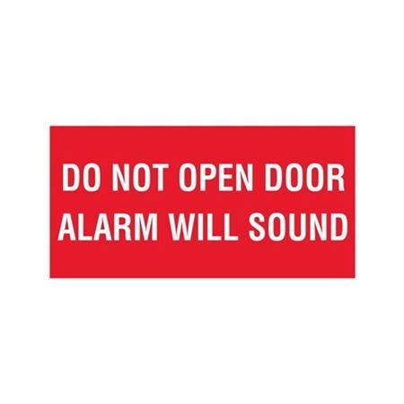 """Do Not Open Door Alarm Will Sound - Vinyl Decal 6"""" x 12"""""""