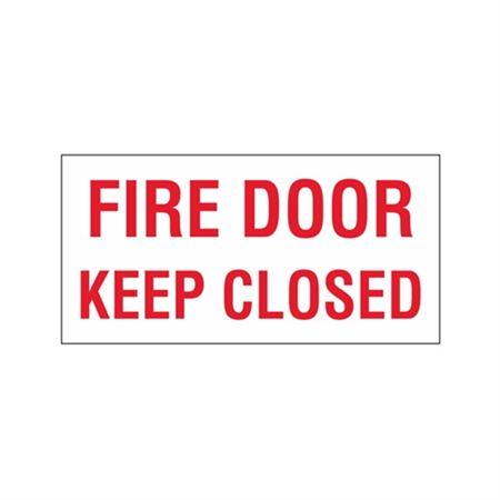 """Fire Door Keep Closed - Vinyl Decal 6"""" x 12"""""""