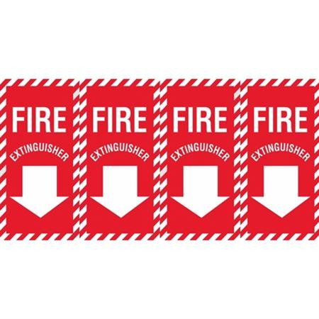 Fire Extinguisher (Down Arrow) Wrap Decal - Vinyl Decal 12 x 24