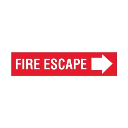 Fire Escape Right Arrow - Vinyl Decal 4 x 18