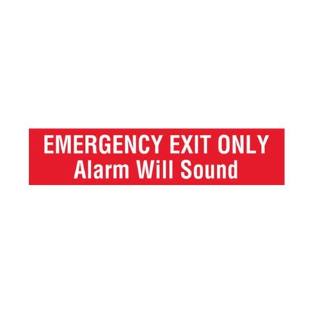 Emergency Exit Only Alarm Will Sound - Vinyl Decal 4 x 18