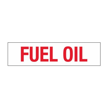 """Truck/Tank Decals - Fuel Oil - 4"""" Letter 6 x 24"""