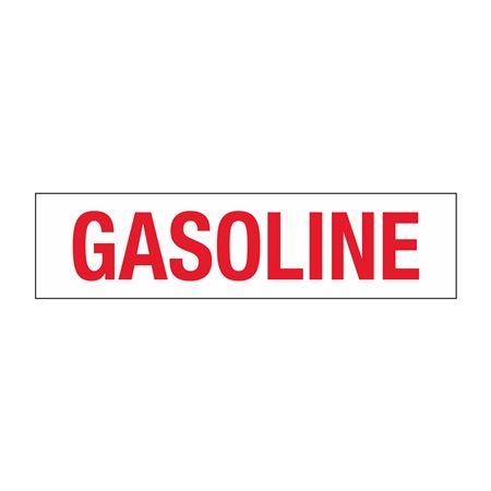 "Truck/Tank Decals - Gasoline - 4"" Letter 6 x 24"