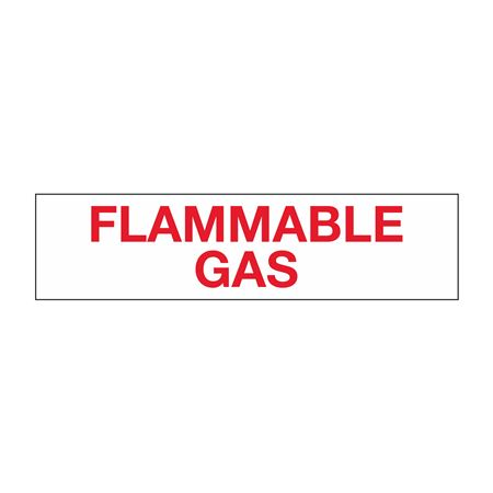 """Truck/Tank Decals - Flammable Gas - 2"""" Letter 6 x 24"""