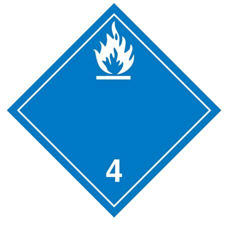 Class 4 - Dangerous When Wet Int'l Wordless - Adhesive 10 3/4 x 10 3/4