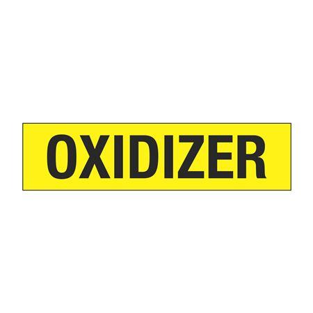 """Truck/Tank Decals - Oxidizer - 4"""" Letter 6 x 24"""